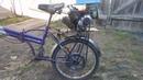 Велосипед с двигателем от крота часть 2.
