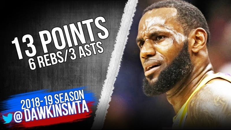 LeBron James Full Highlights 2018.12.16 Lakers vs Wizards - 13 Pts, 6 Rebs, 3 Asts | FreeDawkins