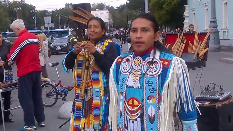 Песни индейцев. Поёт José Males. Wuambrakuna Ecuador Spirit. El Condor pasa. 2016-09-11 ВДНХ