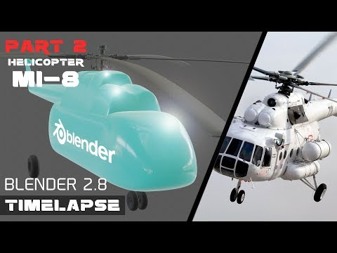 MODELING RUSSIAN HELICOPTER MI-8 IN BLENDER 2.8 PART 2