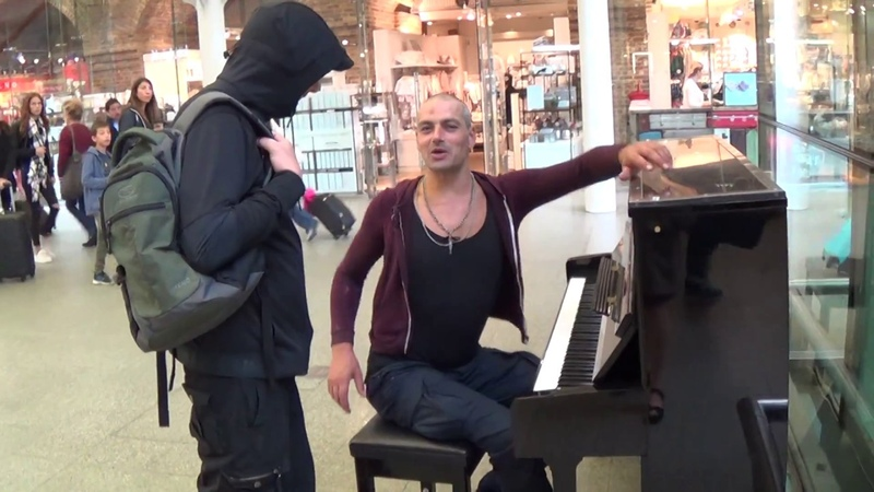 Tough Guy on Piano Is Asked To Play Mary Poppins