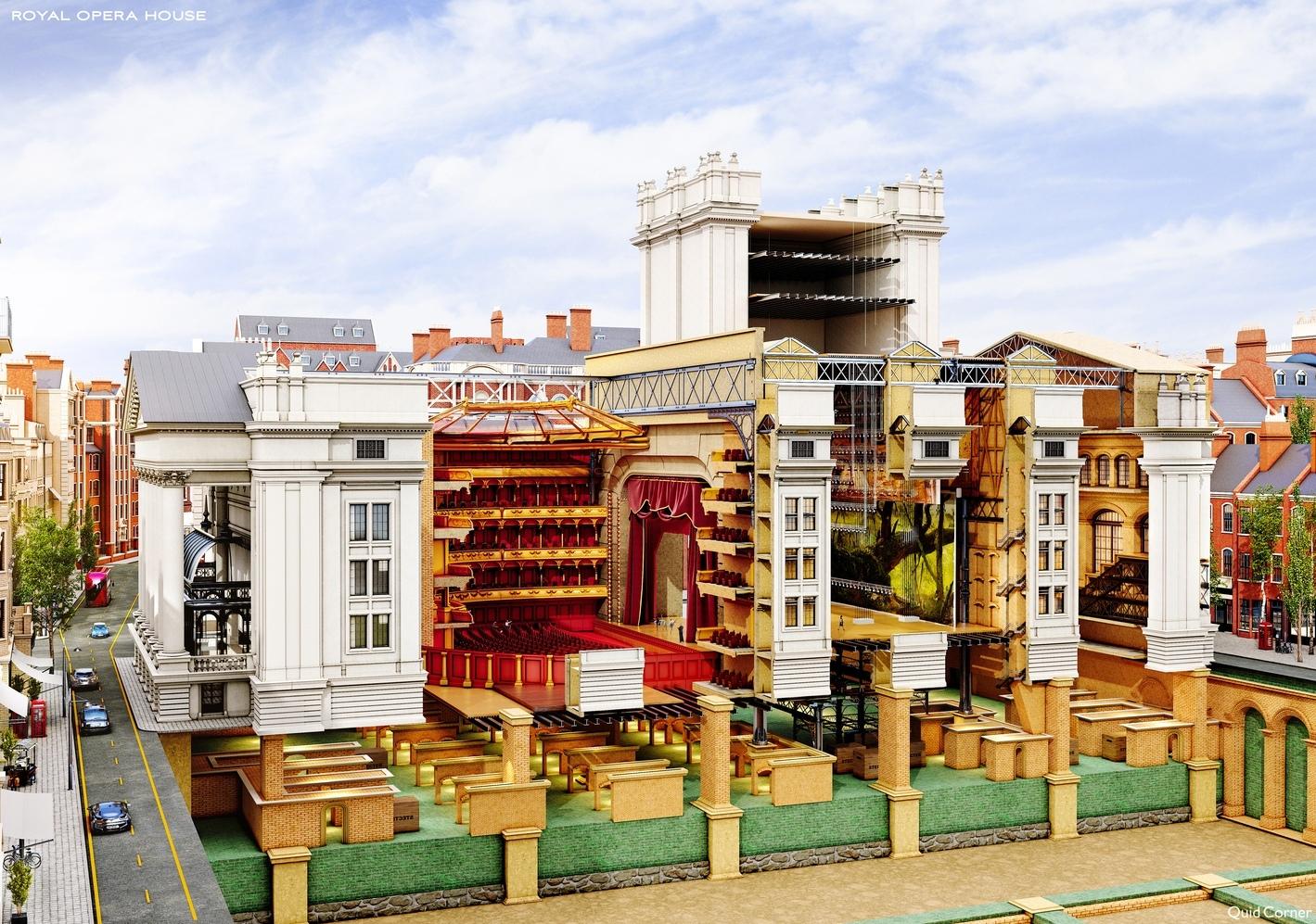 королевский оперный театр в лондоне чертежи