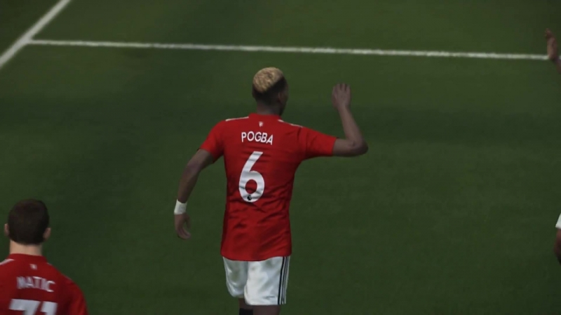 Long Free Kick Goal Pogba Brighton vs Manchester United 2018 PES 2018 Gameplay