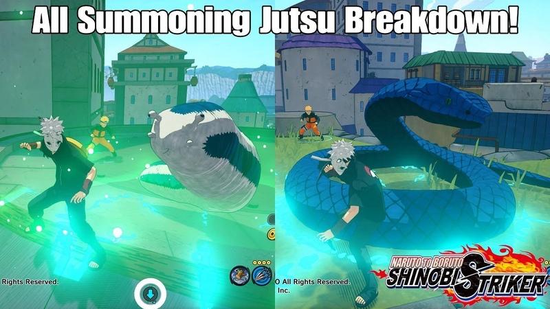 Naruto To Boruto Shinobi Striker All Summoning Jutsu Breakdown And Gameplay!