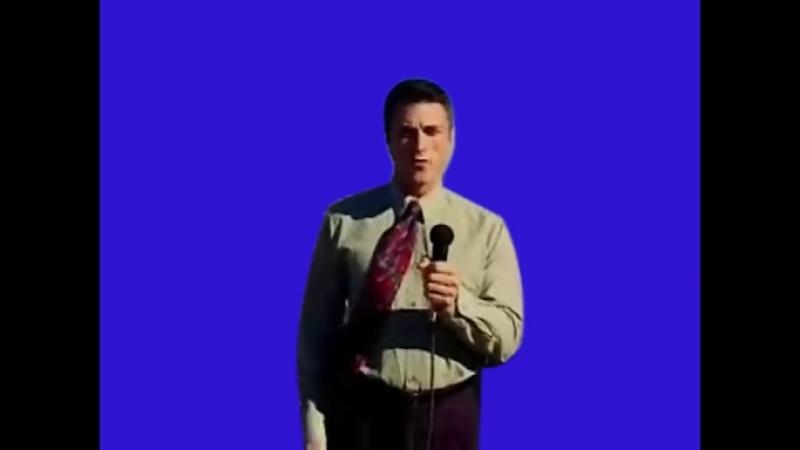Gachimuchi Reporter on a blue screen Репортёр на синем экране