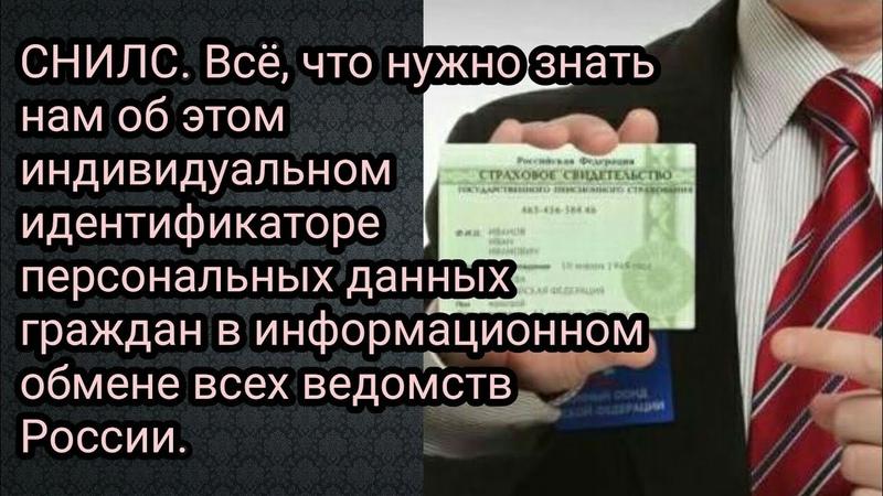 СНИЛС Всё что нужно знать нам об этом индивидуальном идентификаторе персональных данных граждан