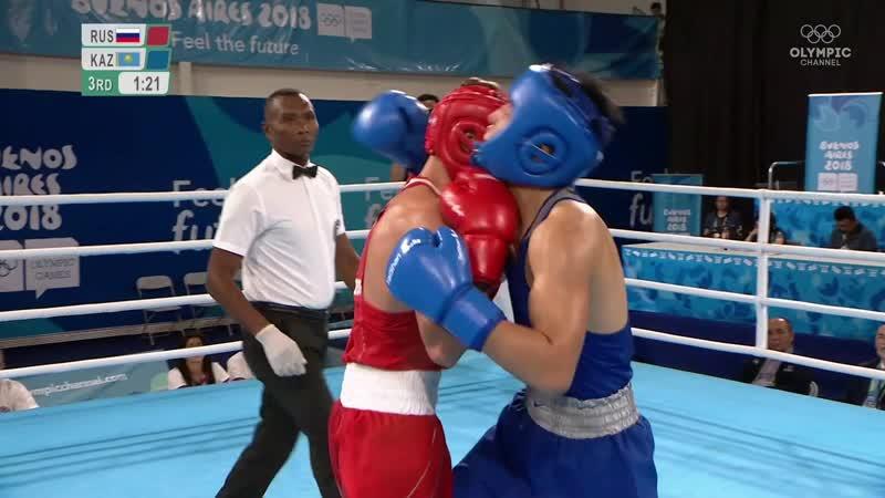 YOG Finals 64kg Popov (RUS) vs Shaiken (KAZ)