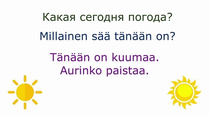 Финский с нуля погода, часть 1