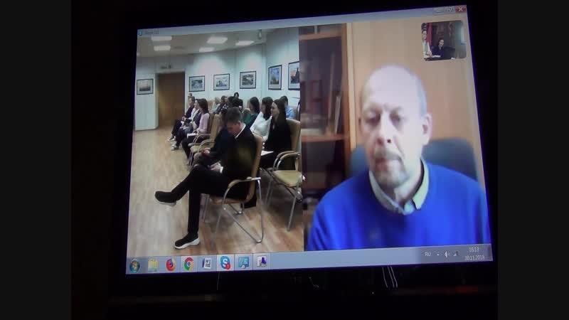 Видеоконференция Москва-Дудинка-Красноярск. Выступление Ивко Ирины Сергеевны