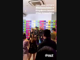 181102 Lucas (NCT) buro.singapore's Instagram Story Update @ H&M x Moschino Party