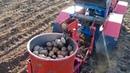 Посадка картошки самодельной сажалкой