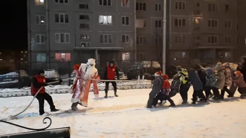Новый год московский дворик 2018