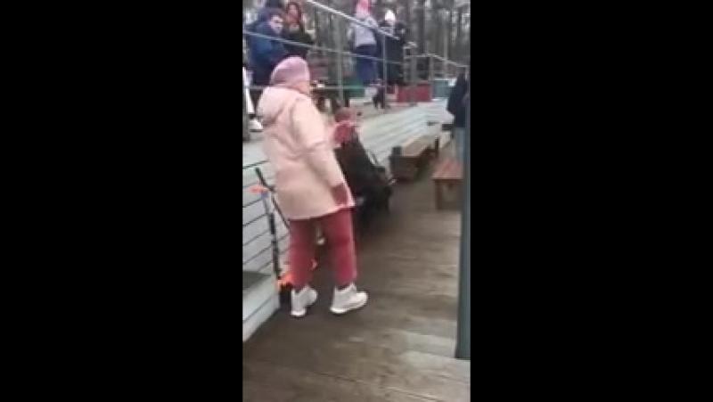 Бабуля танцует круче молодых