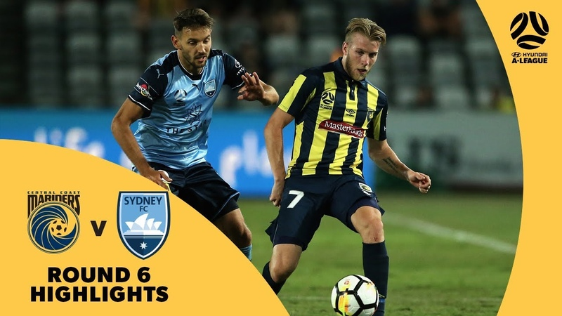 Hyundai A-League 201718 Round 6 Central Coast Mariners 2 - 0 Sydney FC