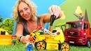 Araba oyunları LEGO oyuncakları oyun parkı kuruyor