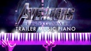 Avengers 4 Endgame Official Trailer Music Piano SHEETS SYNTHESIA