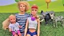 Куклы Барби. Семья Штеффи на сафари. Игры для девочек.