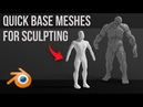 Quickly Create Base Meshes for Sculpting Skin modifier
