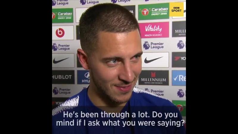 Eden Hazard appreciates great goals, whoever scores them.