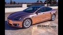 ROSE GOLD CHROME Tesla SS Customs Vinyl Car Wrap Installation