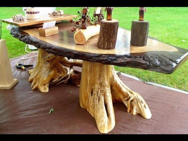 Meja dan Kursi Kayu model unik,cantik Furniture Unik dan keren