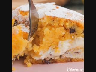 тыквенный пирог с творожным кремом 🌰