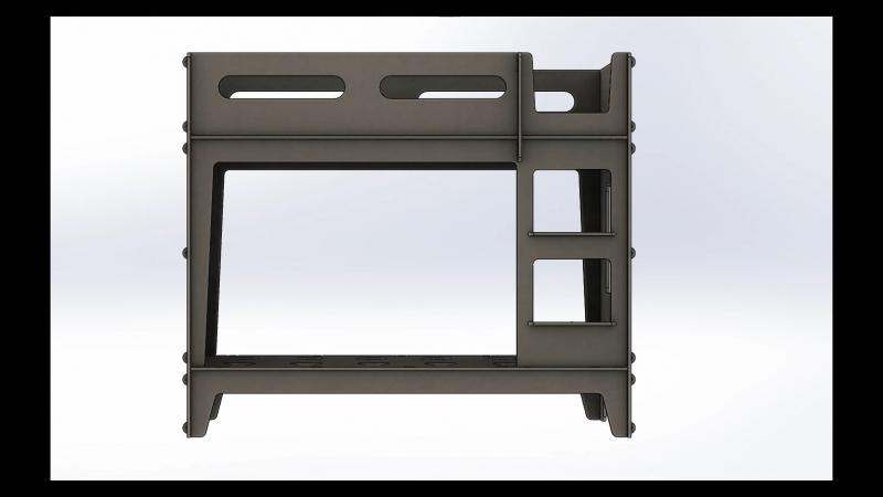 Children's bunk bed / SolidWorks Design