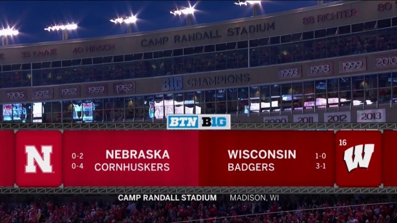 NCAAF 2018 Week 06 Nebraska Cornhuskers - (16) Wisconsin Badgers 1Н EN