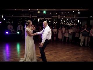 BEST surprise father daughter wedding dance to epic song mashup _ Utah Wedding V