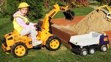 Unboxing And Assembling The POWER Wheel Tractor Excavator for kids, Sofia fun Plays with Toys