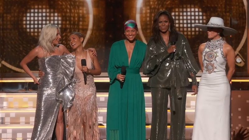 Alicia Keys Michelle Obama Lady Gaga Open The 2019 GRAMMYs sisterhood