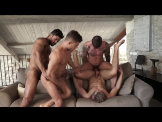 Diego and geordies fuckmachine foursome (bareback)