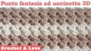 Tutorial punto fantasia ad uncinetto 3D (copertina neonato) (sub. eng. y esp.)