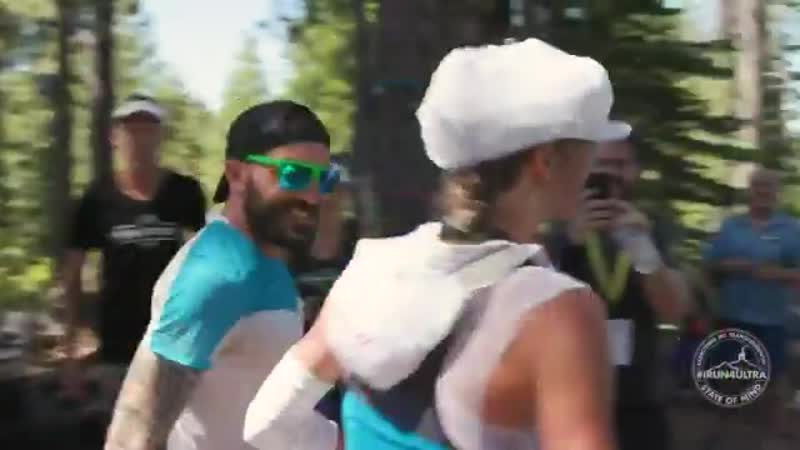 Trail runners volunteering at best keeping you cool When you most need it at the @wser - - seeyouinsquaw ws100 irun4ultra.mp4