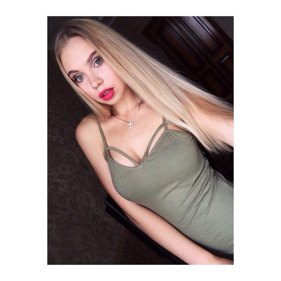 Hot blonde chokes on hard cock