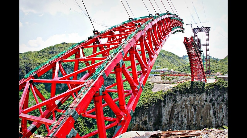 Как китайцы строят мосты над пропастью