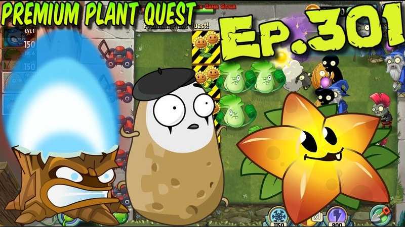 Plants vs Zombies 2 Torchwood Imitater Starfruit Premium Plant Quest Ep 301