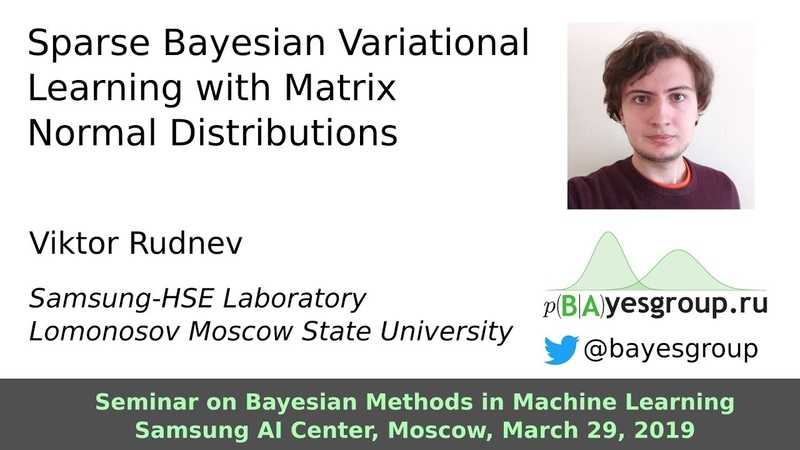 Sparse Bayesian Variational Learning with Matrix Normal Distributions