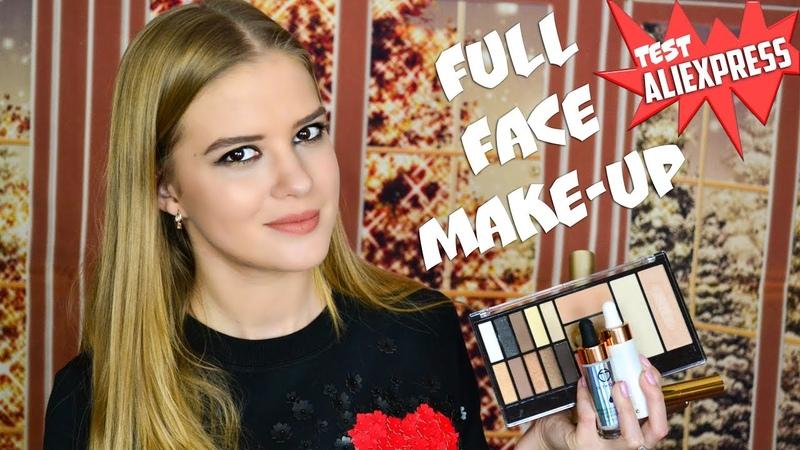 Полный макияж новой крутой косметикой с Aliexpress   Распаковка O.TWO.O   NikiMoran