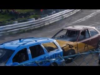 Banger Racing Angmering Oval Raceway CB Contact 04-02-2018