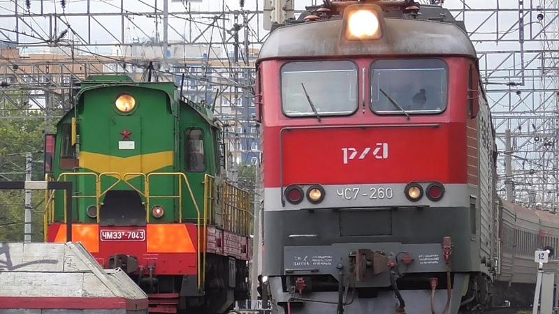 ЧМЭ3т-7043 и ЧС7-260 с поездом 082и Москва - Улан-Уде
