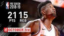 DeAndre Ayton Full Highlights Breakers vs Suns 2018 10 03 21 Pts 15 Reb 3 Blocks