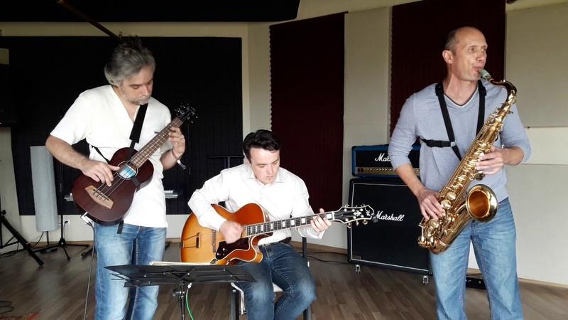 Jazz trio rehersal