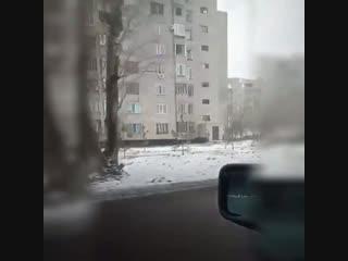 Сгорел БМВ 34 в Павлодаре