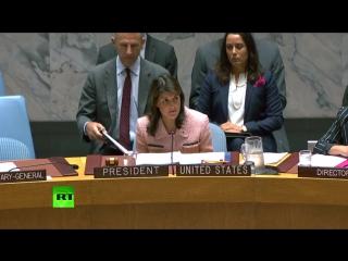 Заседание Совбеза ООН по сирийскому вопросу
