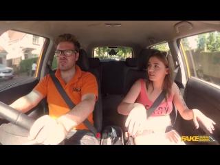 FakeDrivingSchool Lara Duro - Spanish kitty cat rides cock