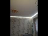 Натяжной потолок Матовый, частично парящий, светильники, люстра, Арт-печать г. Подпорожье ул. Пионерская д.3 ТЦ ЛЮКС (второй