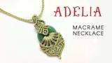 Macrame jewelry set tutorial The Adelia necklace - H