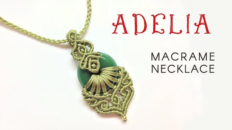Macrame jewelry set tutorial The Adelia necklace - Hướng dẫn thắt mặt dây chuyền Adelia