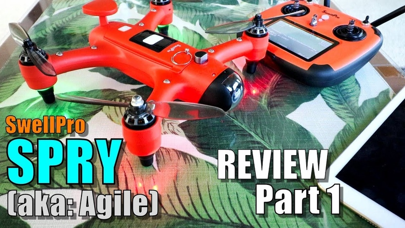 SwellPro SPRY Waterproof Race Drone Review Part 1 Unboxing Inspection Setup